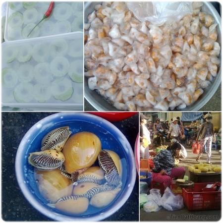Chợ Phan Thiết trong buổi sớm: ấn tượng với ốc biển to đùng!
