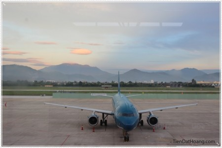 Sân bay Đà Nẵng trong buổi sáng sớm!