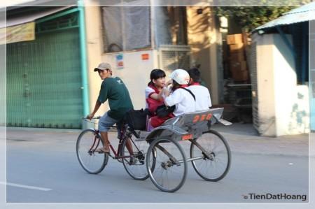 Xe lôi ở An Giang.