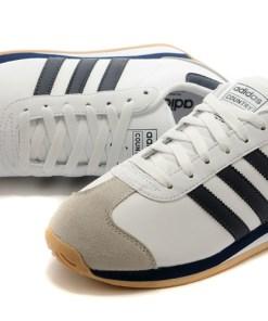 Tenis-Zapatillas-Country-Clasicas-Retro-Hombre-Blanco-Azul 80s 90s 2020
