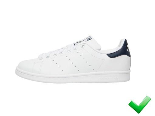 Tenis-Zapatillas-Stan-Smith-Blanco-Azul-Mujer Clasicas