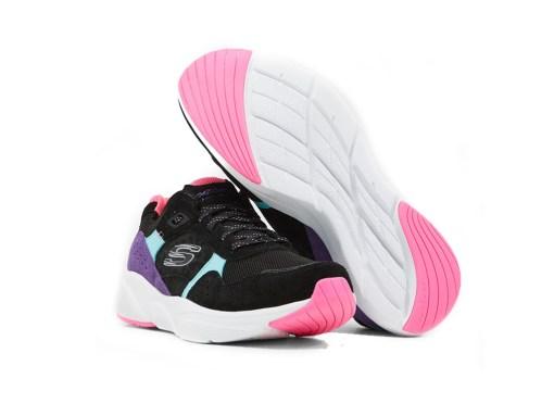 Tenis-Zapatillas-Skecher-Meridian-Charted-Mujer-Negro-Fucsia-moda-2020