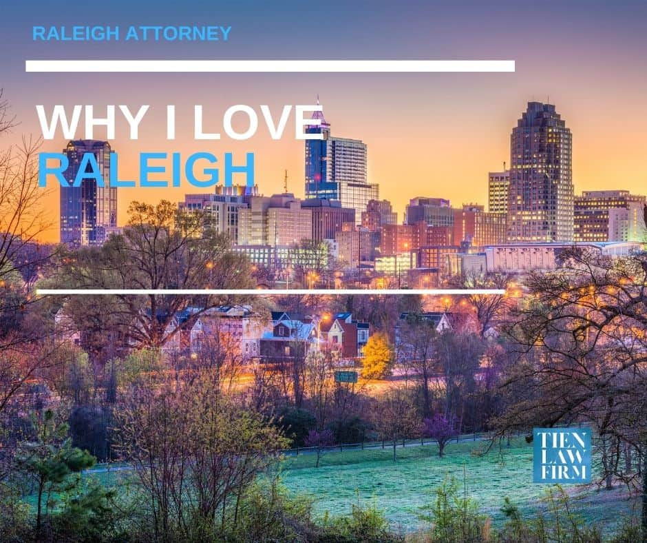 raleigh attorney, raleigh personal injury attorney, why I love raleigh, tien law firm, sonya tien