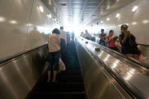 Man beachte auch den Linksverkehr auf Rolltreppen... :)