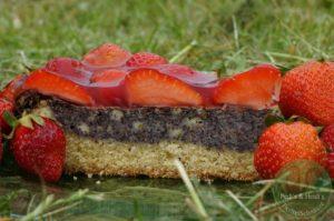 Erdbeer-Mohnkuchen
