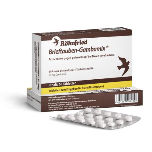 Röhnfried Gambamix mit Carnidazol, 60 Tabletten