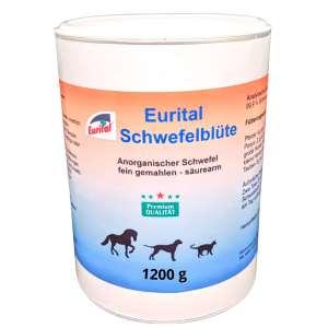 Eine Dose mit 1200 gramm Schwefelbüte für Pferde Hunde und Katzen