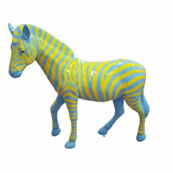 Deko Lebensgroßes Zebra glänzend