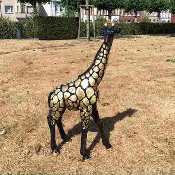 Deko Giraffe schwarz gold 70 cm
