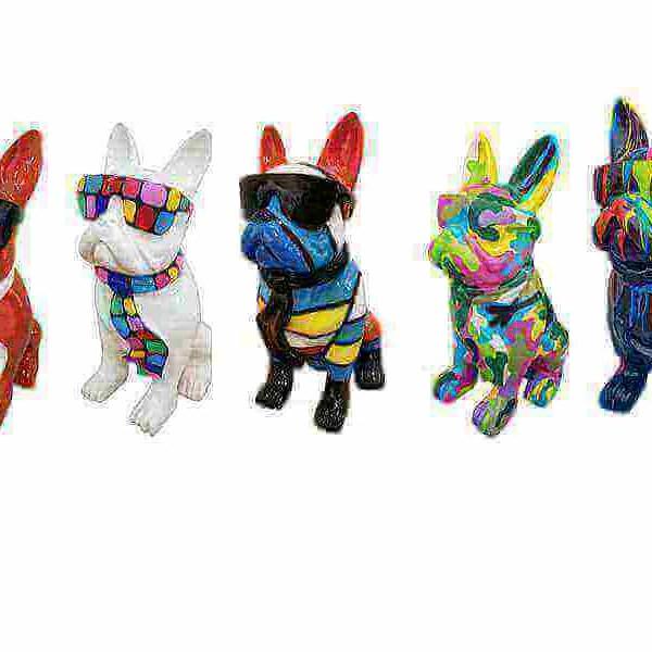 Franzoesische Bulldoggen verschiedenen Designs und Groessen