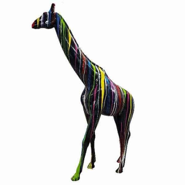lebensgrosse Giraffe kreativ schwarz