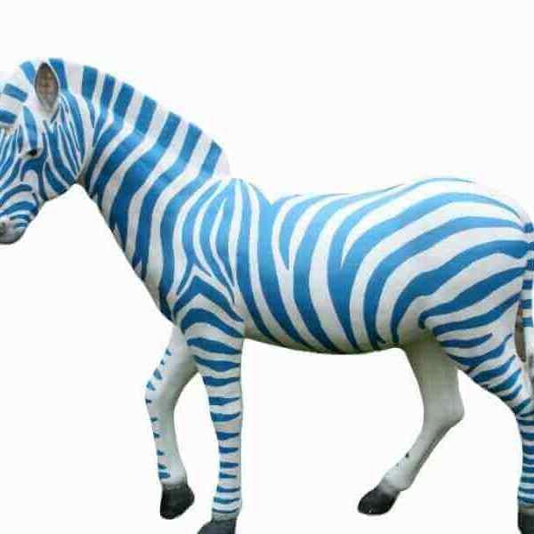 Lebensgroßes Zebra Rohling zum Bemalen