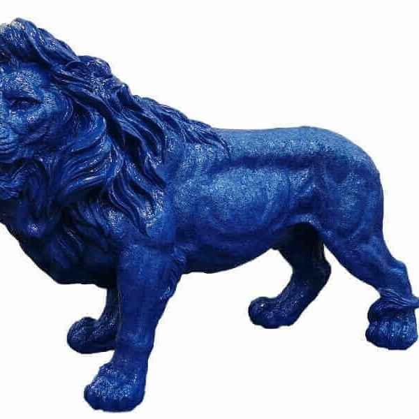 Der blaue Löwe Dekoration Garten