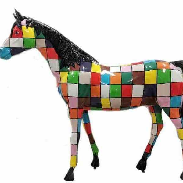 Lebensgrosses Deko Pferd aus GFK Karodesign