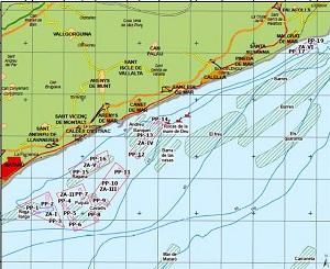 Das fischreiche Angelgebiet im Mittelmeer von Kurt und Toni.