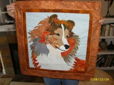 Sheltie quilt for my friends Pam and Bill and their dog Finley