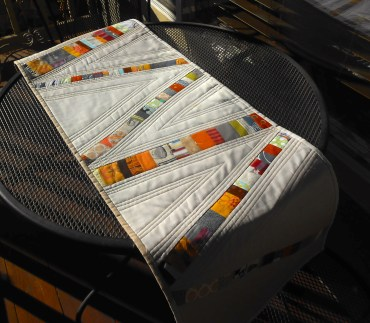 modern art quilt table runner runner