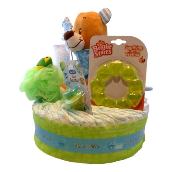 tarta de pañales primavera niño