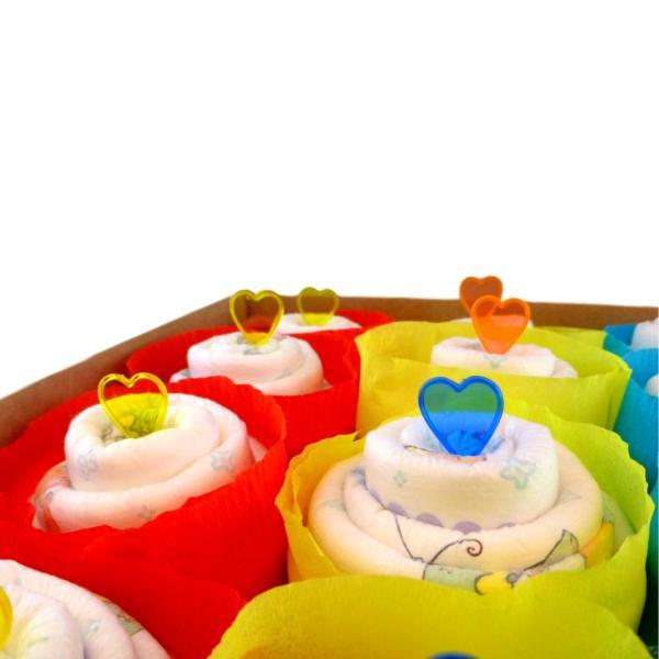 Tarta de pañales Cupcake para niño
