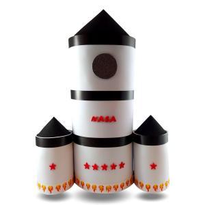 Tarta de pañales cohete espacial