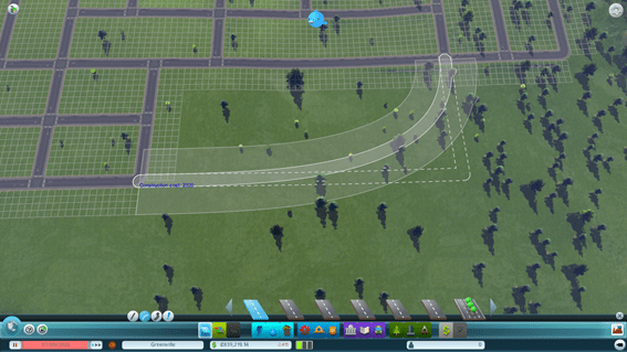 Cities Skylines - carretera