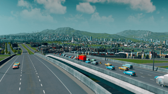 Cities Skylines - trafico
