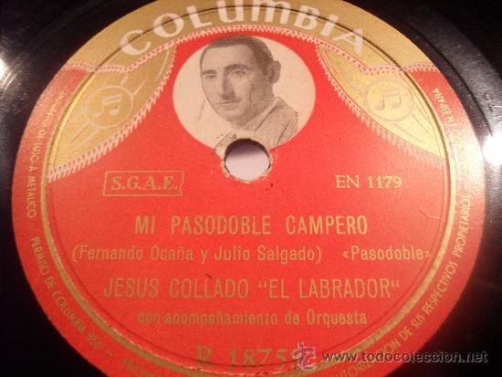 Portada disco de Pasodoble Campero de Jesús Collado El Labrador