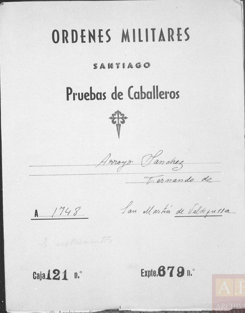 Expediente Pruebas de Caballeros de Santiago