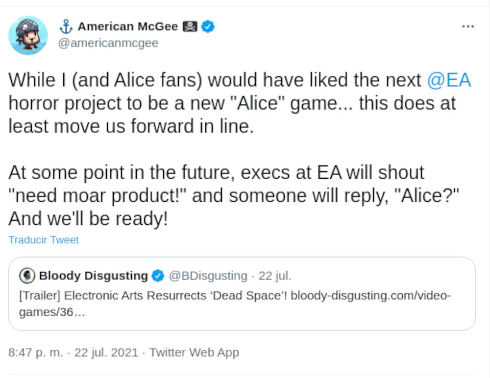 American McGee wants EA to back another Alice game
