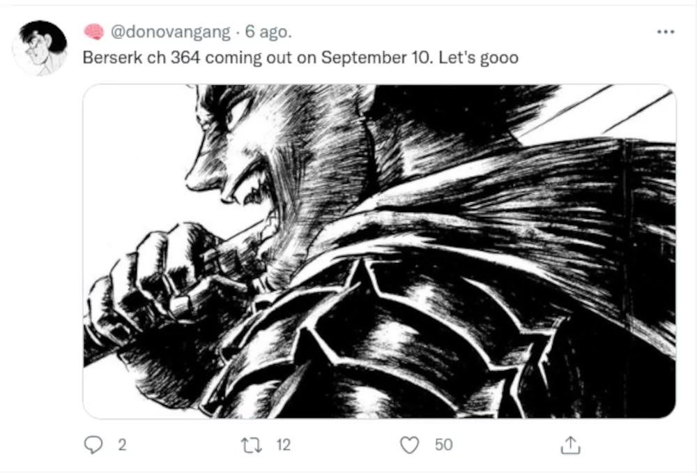 Berserk Nuevo Capitulo Reaccion Twitter 07