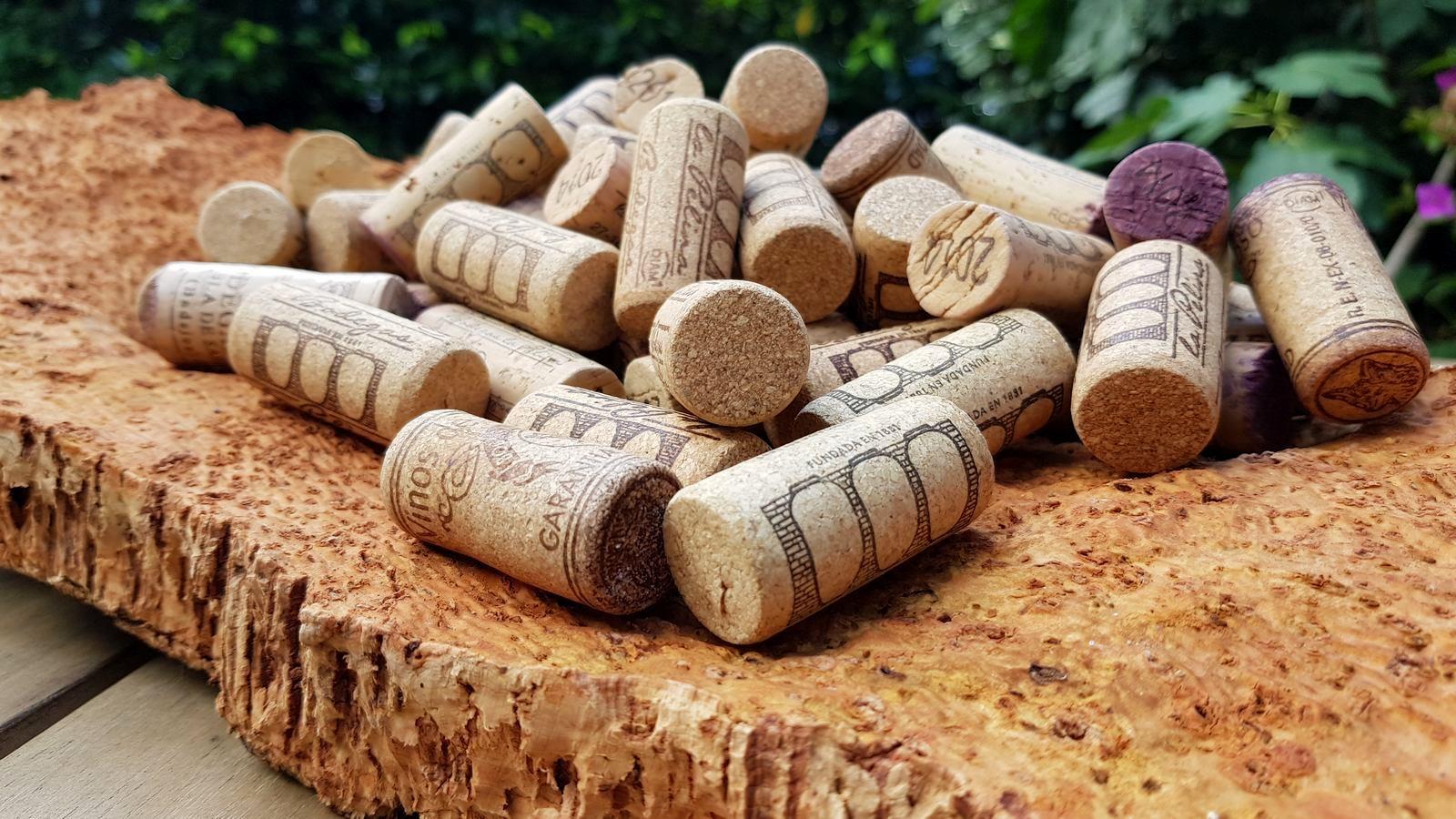 Wijnkurken gemaakt van duurzaam gewonnen schors van kurkeiken in Extremadura.