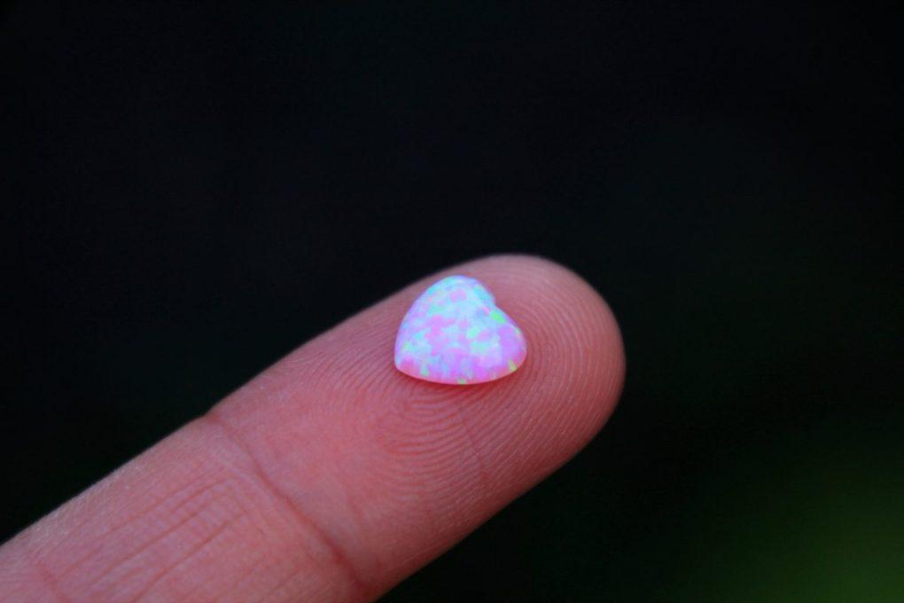 opalo rosa corazon - alta calidad