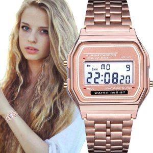 Relógio digital feminino ultra fino – várias cores