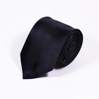 zijden stropdas kopen zwart