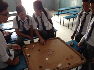 Carrom is a popular tabletop game in Nepal