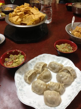 momos and guacamole