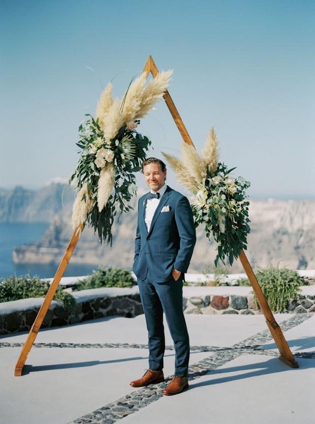 Bohemian Grecian Wedding In Santorini Greece Tie The