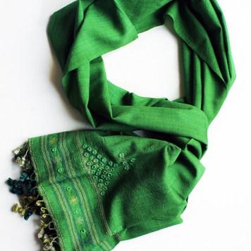 Green Kutcha Stole