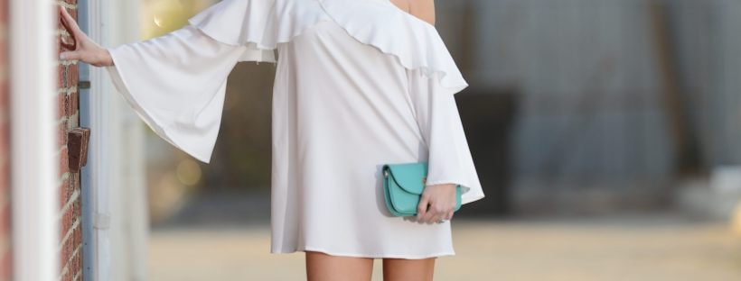 Make Me Chic White Ruffle Dress