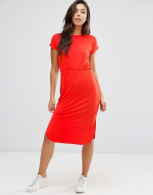 Red ASOS TShirt Dress
