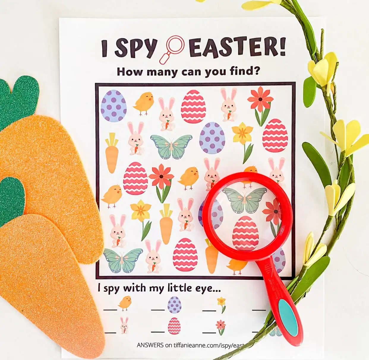I Spy Easter Game Free Printable Toddler Activities