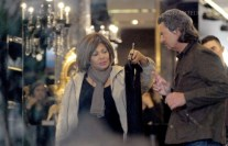 Tina with Erwin shopping in Milan, Italy in 2006 (Courtesy: Socialite Life)
