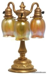 Tiffany Bronze 3 Light Newel Post Lamp