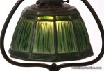 Tiffany Studios Linenfold Harp Desk Lamp