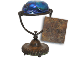 Antique Tiffany Studios Scarab Desk Lamps - Fontaines Tiffany Lamps