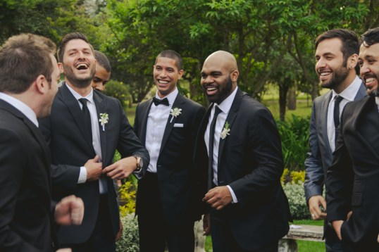A normal moment of laughter between the guys.