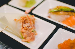 Wrapped in cucumber instead of nori, this handroll was refreshing & flavorful.