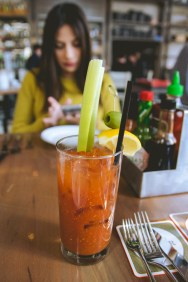 Because it's not brunch without a Bloody Mary. Also, I'm like an old woman from the 50s so yeah.