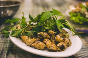 Steamed snails