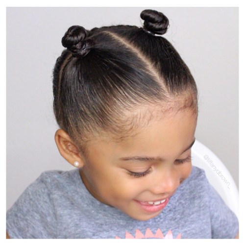 Easy Mini Top Knots Hairstyle For Your Little Girl This Spring-Tiffany D. Brown
